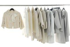 Cloth. Designer clothing hanging as display Stock Photo
