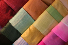 Cloth. Pieces of fine cloth in a shop Stock Photos