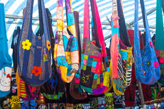 Cloth bags with many colors and shapes Stock Photography