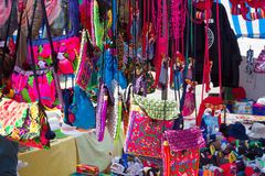 Cloth bags with many colors and shapes Royalty Free Stock Photo