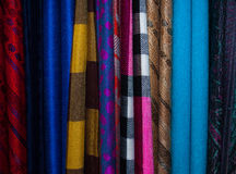 Cloth. Batik cloth for sale at a fair of the East royalty free stock images