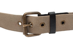 Cloth belt with iron buckle Stock Photo