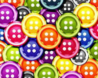 Cloth bottons. Set of cloth buttons background Royalty Free Stock Photos