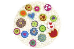 Cloth brooches Royalty Free Stock Images