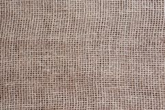 Cloth brown linen matting. Close-up stock image