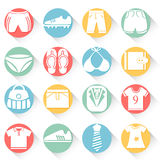 Cloth Button Set Stock Photo