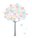 Cloth button tree Stock Photo