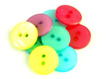 Cloth buttons Royalty Free Stock Images