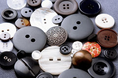 Cloth buttons art background with space for text Royalty Free Stock Images