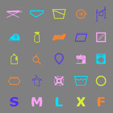 Cloth care sign and symbol color icons Royalty Free Stock Photo
