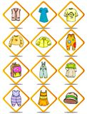Cloth of children Royalty Free Stock Photos