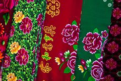 Cloth with chinese design Stock Photo