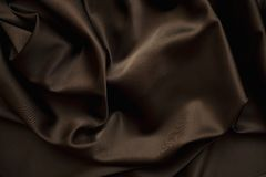 Cloth Chocolate brown satin  silk close up Stock Photos