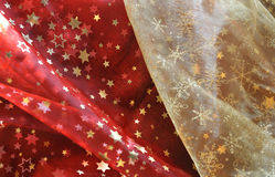 Cloth with Christmas patterns Stock Photos