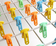 Cloth clips Royalty Free Stock Photo