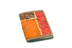Cloth covered notebook Royalty Free Stock Image