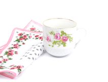 Cloth and cup Royalty Free Stock Images