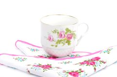 Cloth and cup Royalty Free Stock Photography