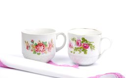 Cloth and cups Stock Image