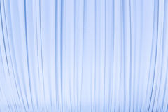 Cloth curtain in pastel blue colour Royalty Free Stock Images