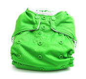 Cloth Diaper. Isolated on a white background Stock Photography