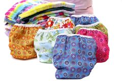 Cloth Diaper Stack Royalty Free Stock Images