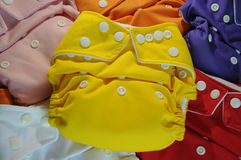 Cloth diapers in different colors Royalty Free Stock Images