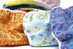 Cloth diapers up close Stock Photography
