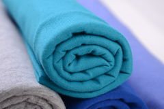Cloth with different color made by cotton fiber Royalty Free Stock Photography