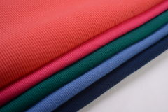 Cloth with different color made by cotton fiber Royalty Free Stock Images