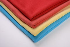 Cloth with different color made by cotton fiber Royalty Free Stock Photos