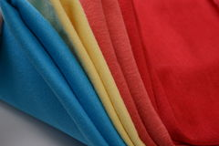 Cloth with different color made by cotton fiber Stock Photography