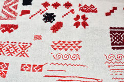 Cloth with diverse kinds of handmade embroidery Stock Photo