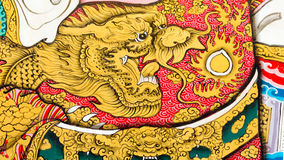 Cloth of dragon. Chinese dragon picture on solider cloth Stock Photo