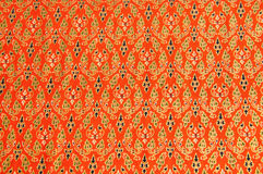Cloth fabric Thai. Thai fabric pattern as background Royalty Free Stock Photo