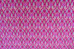 Cloth fabric Thai. Thai fabric pattern as background royalty free stock photos