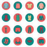 Cloth and fashion icons set vector illustration Royalty Free Stock Image