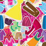 Cloth Fashion Seamless Pattern. Illustration cloth fashion colorful flowers background seamless pattern. --- This .eps file info Version: Illustrator 8 EPS vector illustration