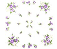 Cloth with flowers as background Stock Image