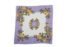 Cloth with flowers Royalty Free Stock Photography