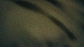 Cloth flutters. Waves of canvas animation. Background of satin fabric. Fabric background animation fluttering in the stock photo