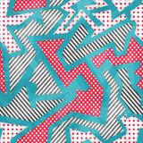 Cloth geometric seamless pattern with grunge effect Royalty Free Stock Image