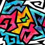 Cloth geometric seamless pattern with grunge effect Stock Image