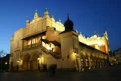 The Cloth Hall. By night in Krakow Royalty Free Stock Photo