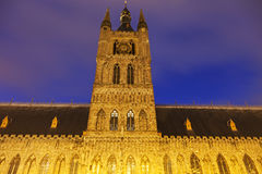 Cloth Hall and Belfry in Ypres Royalty Free Stock Image