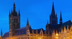 Cloth Hall and Belfry in Ypres Stock Photos