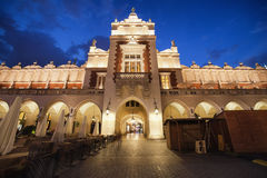 Cloth Hall in Krakow by Night Royalty Free Stock Photo