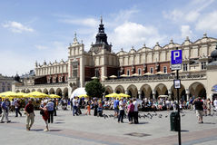 Cloth Hall of Krakow in Poland Stock Images