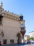 The Cloth Hall on the main Market Square in Krakow, Poland is a haven for shoppers Stock Images