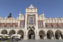 Cloth Hall on Main Market Square in sunny day, Krakow, Poland Stock Photos